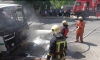 Подробности возгорания автобуса в Сумах от спасателей (видео)