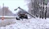 В Сумах автомобиль сбил фонарь (+видео)