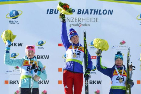 Ульяна Кайшева выиграла спринтерскую гонку навтором этапе Кубка Европы побиатлону