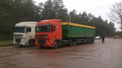 Полиция непустила вГлухов грузовики сольвовским мусором
