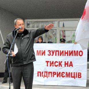 Пикет против Налогового кодекса в Сумах, Владимир Токарь