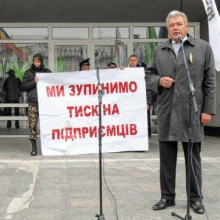 Пикет против Налогового кодекса в Сумах, Павел Качур