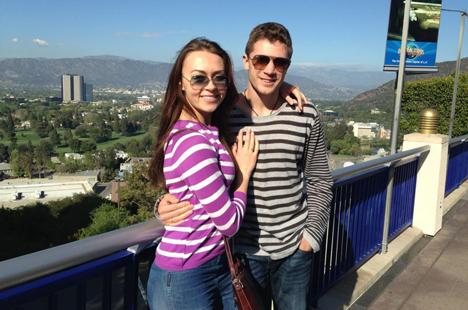 С женой Алиной в парке развлечений «Universal Studio Hollywood»
